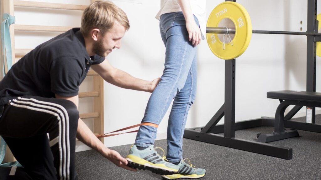 Træning med fysioterapeut