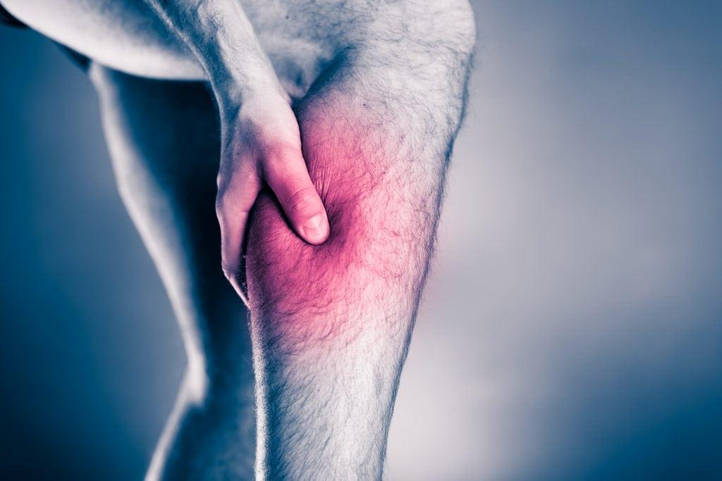 Fibersprængning lægmuskel