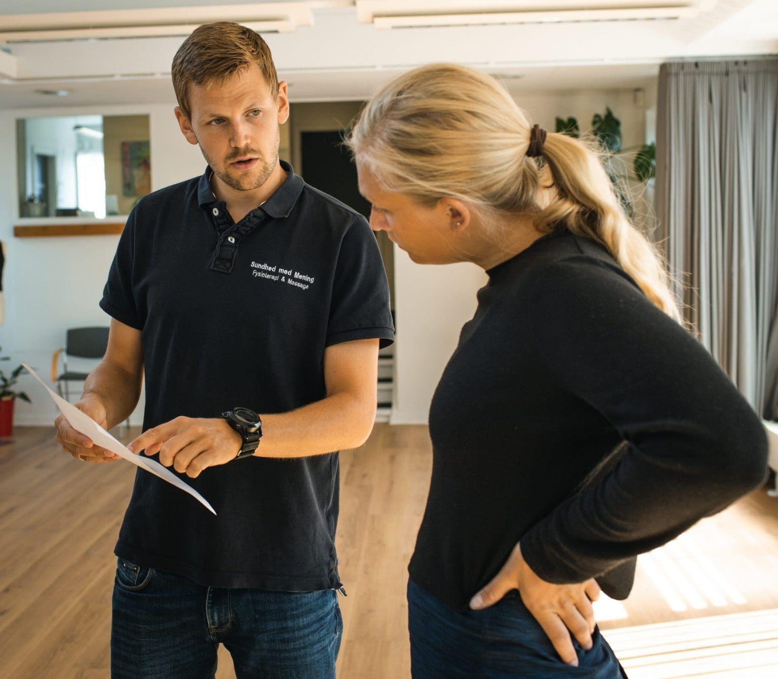Fysioterapeut klinik Aarhus Sundhed Med Mening